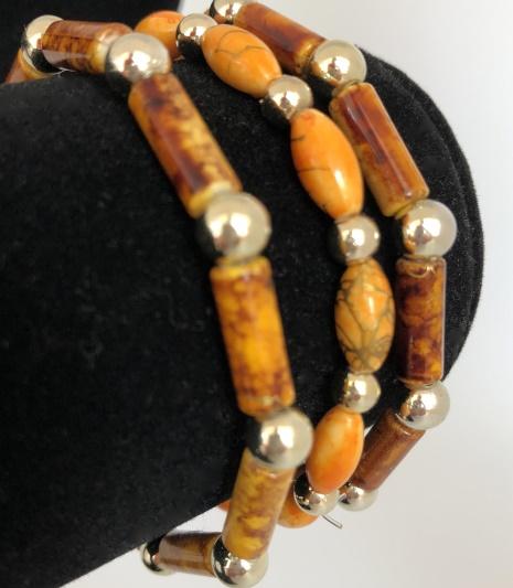 Armband i brunt / orange