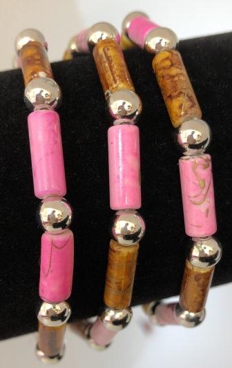 Arbmand i rosa och brunt
