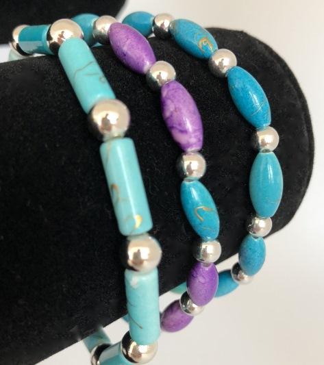 Armband blå och lila