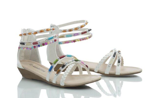 Produktbild Caribbyshoes sandal Day i vitt.