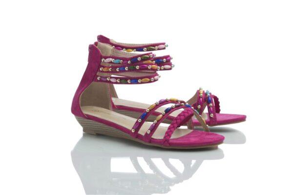 Day fuchsia, skön sandal från Caribbyshoes.