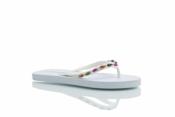 Produktbild vita Loee med pärlor i flera färger.