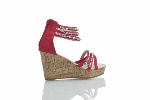 Produktbild röda Tess från Caribbyshoes