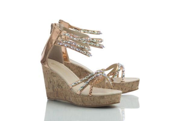 Tess roseguld från Caribby shoes